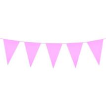 Óriás rózsaszín műanyag zászló 46 x 30 cm 10 m
