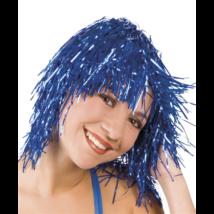 Rövid fólia paróka kék színű