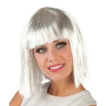 Fehér rövid paróka ezüst tinccsel