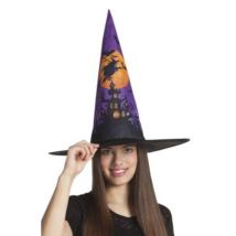 Mintás boszorkány kalap felnőtteknek
