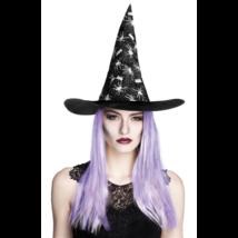 Pókhálós fekete boszorkány kalap