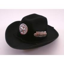 Fekete férfi cowboy kalap