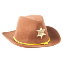 Felnőtt barna plüss seriff kalap