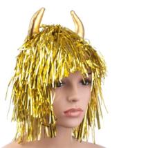 Arany színű fólia paróka ördögszarvval