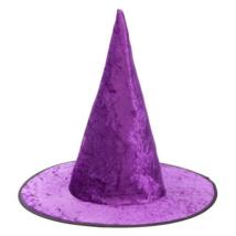 Lila bársony boszorkány kalap