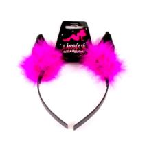 Fekete ördögszarv pink tollal
