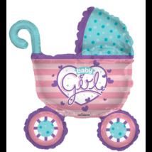 90 cm-es Baby Girl pink babakocsi fólia lufi