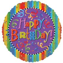 75 cm-es Happy Birthday szerpentines fólia lufi