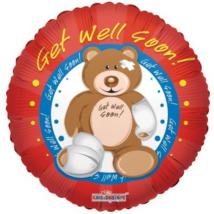 45 cm-es Get well soon! maci fólia lufi