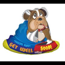 70 cm-es Get Well Soon bulldog fóli lufi