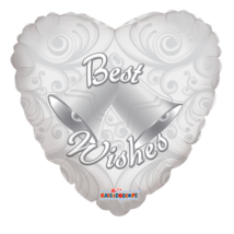 45 cm-es Best Wishes szív fólia lufi