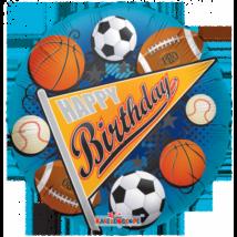 45 cm-es Happy Birthday labda sport fólia lufi