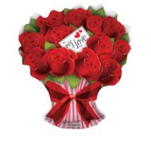 70 cm-es Rózsacsokor fólia lufi