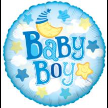 60 cm-es Baby Boy holddal  fólia lufi