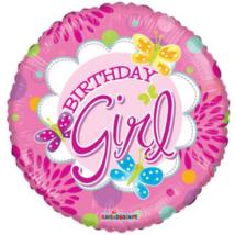 45 cm-es Birthday Girl pillangós fólia lufi