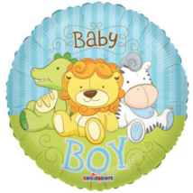 45 cm-es Baby Boy dzsungeles fólia lufi
