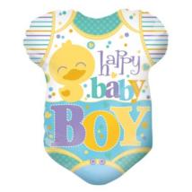 45 cm-es Happy Baby Boy rugdalozó fólia lufi