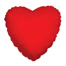 23 cm-es Szív alakú piros fólia lufi