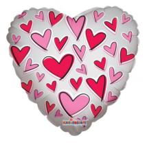 45 cm-es szív alakú átlátszó fólia lufi