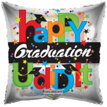 23 cm-es Happy Graduation You did it fólia lufi