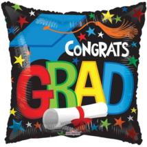 Mini Congrats Grad kocka fólia lufi
