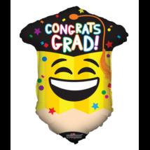45 cm-es Congrats Grad! Ceruza alakú fólia lufi
