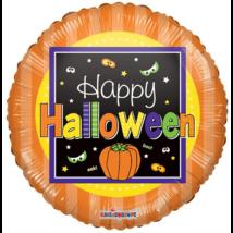 23 cm-es Happy Halloween fólia lufi