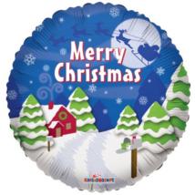 23 cm-es Merry Christmas fólia lufi