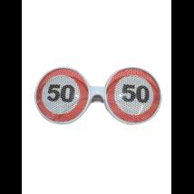 Behajtani tilos szemüveg 50. születésnapra