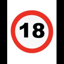 Behajtani tilos fali dekoráció 18. születésnapra