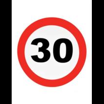 Behajtani tilos fali dekoráció 30.születésnapra
