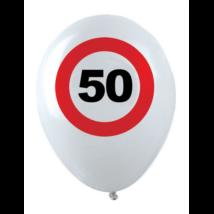Behajtani tilos 50. születésnapra gumi léggömb 12db/cs