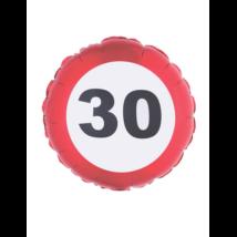 46 cm-es behajtani tilos 30. születésnapra fólia lufi