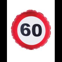 46 cm-es behajtani tilos 60. születésnapra fólia lufi