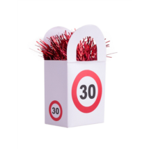 Behajtani tilos 30. születésnapra lufisúly