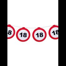 Behajtani tilos 18.születésnapra girland 12 m-es