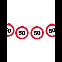 Behajtani tilos 50.születésnapra girland 12 m-es