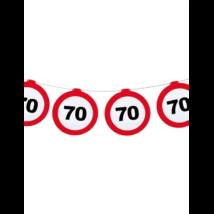 Behajtani tilos 70.születésnapra girland 12 m-es