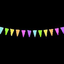 Papír zászlós girland 3,6 m x 12,5 x 22 cm