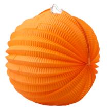 Narancssárga kerek lampion 22 cm