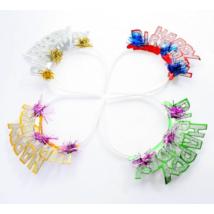 Glitteres Happy Birthday tiara 4 db/cs