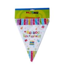 Boldog Születésnapot műanyag zászló 3,6 m 11 db zászlóval