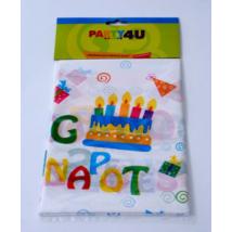 Boldog Születésnapot műanyag asztalterítő 130 x 180 cm
