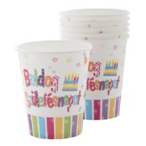 Boldog Születésnapot pohár 200 ml 6 db/cs