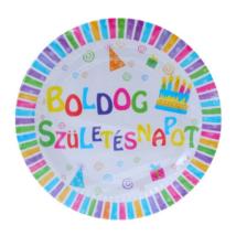 Boldog Születésnapot tányér 23 cm