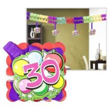Számos girland 30. születésnapra 400x12x12cm, 12 db függő számmal