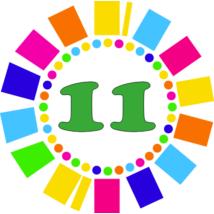 Számos kitűző 11. születésnapra
