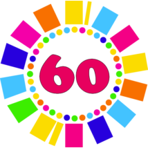 Számos kitűző 60. születésnapra