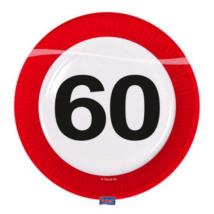 Lépd át a határt' tányér 60.születésnapra 23 cm 8 db/cs