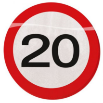 Lépd át a határt szalvéta 20.születésnapra 3 rétegű 25 x 25 cm 20 db/cs